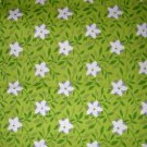 1 yard - Country Life design #4870 - Folk art print coordinate fabric - Chinese Dogwood lime green