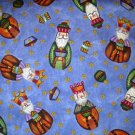 1 yard - Wise men on blue-purple background fabric with stars