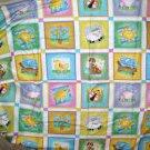 1 yard - Animals in bright squares all over - Nancy Smith & Lynda Milligan - Possibilities Fabrics