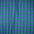 1 yard - Navy and green plaid fabric