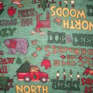 1.5 yard - Debbie Mumm flannel - Northwoods designs - green