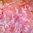 1.66 yard - Pink toned batik with rabbits and bunnies all over fabric - Bunny, Easter, Spring