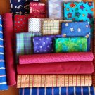 Group of 17 Fat quarters - variety of fabric prints (5 yards total)