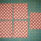 Fat Quarter Bundle -5 FQs - Brown with pink dots fabric print