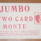 JUMBO TWO CARD MONTE / Vintage Card Magic