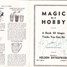 MAGIC AS A HOBBY BY RAY-MOND - SIGNED! / Magic Book
