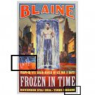 AUTOGRAPHED DAVID BLAINE POSTER - FROZEN IN TIME