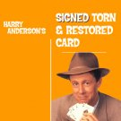 HARRY ANDERSON SIGNED TORN & RESTORED CARD/ Card Magic