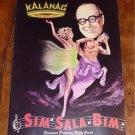 KALANAG MUSICAL REVIEW SIM SALA BIM SOUVENIR PROGRAM