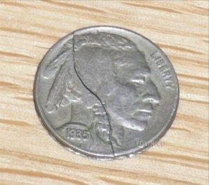 FOLDING INDIAN HEAD NICKEL-RARE! / Vintage Coin Magic