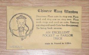 CHINESE RING ILLUSION / Vintage Magic