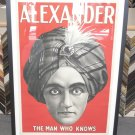 ALEXANDER THE MAN WHO KNOWS / FRAMED MAGIC POSTER