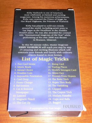 KIRBY VANBURCH AMAZING MAGIC MADE EASY - SIGNED! / VHS