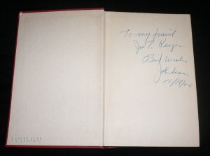 INSCRIBED COPY OF SCARNE ON CARD TRICKS (1950) / Magic