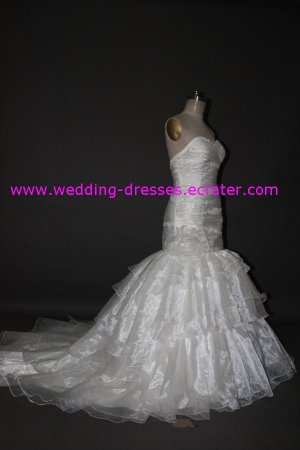 Hot Sales Straplrss Mermaid Beaded Real Wedding Dress / Sample Picture Of Factory(WD533)
