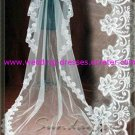 Hot Sales One Layer 3 Meters Cathedral Lace Wedding Veil /Wedding Dress Accessories(VL006)