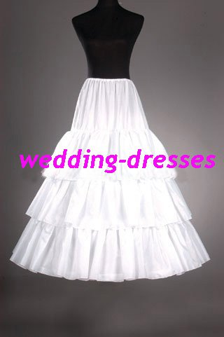 Wedding Dress Accessories-3Layers Underskirt/ Petticoat (PT016)