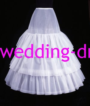 Wedding Dress Accessories-3Layers Underskirt/ Petticoat (PT020)