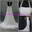 Hot Sales Halter Chffion Open Back Beadings Real Picture Wedding Dress/Bridal Gown(WD920)