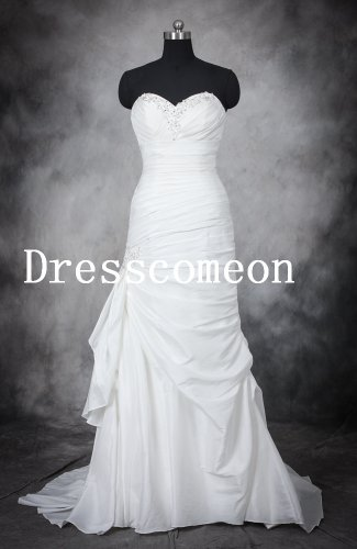 A-Line sweetheart neckline beading sexy wedding dresses(MD012)