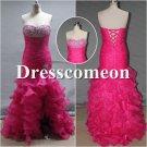 Custom Made High-low Dress, Beading Prom Dress,Evening Dress