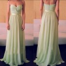 Elegant A-line Sweetheart Sage Chiffon Long Cheap Bridesmaid Dress (BDMD011)