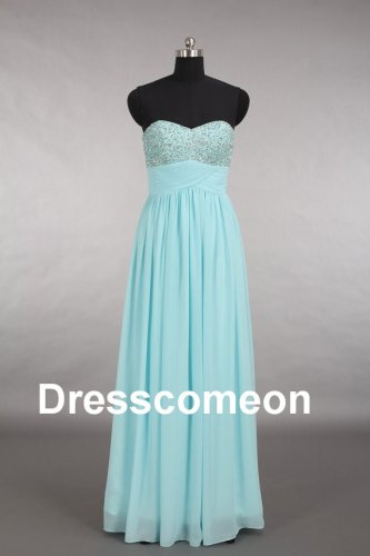 Custom Made Chiffon Sweetheart  Beading Long Bridesmaid Dress, Beading Bridesmaid Dress,Prom Dress