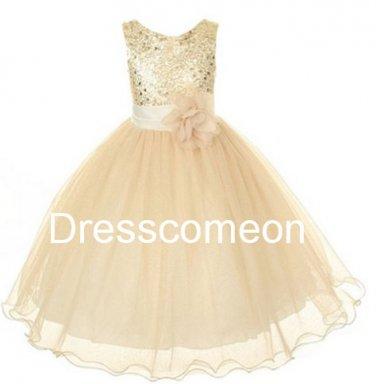 Country Wedding Baby Girls Dress Rustic Baby Girl Dress 2014, Sequins Tulle Flower Girl Dress