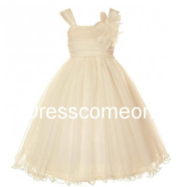 Afforadble Kids Dress Tulle Tutu Dress Prom Dress/ Flower ToddlerGirl Dress