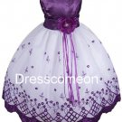 Lace Flower Girl Dresses/Country Flower Girl Tutu Dress/Girl Ball Gown/summer dresses