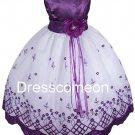Lace Flower Girl Dresses/Country Flower Girl Tutu Dress/Girl Ball Gown/summer dresses