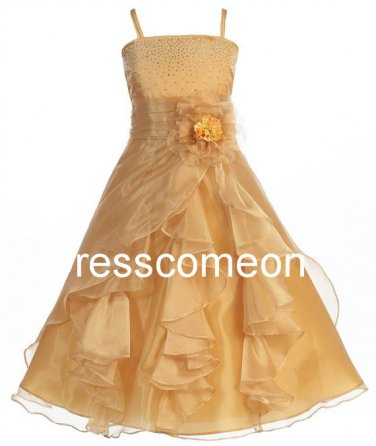 Wonderful  Sequins Girls Lily Graduation Pageant and Long  Flower Girl Dresses