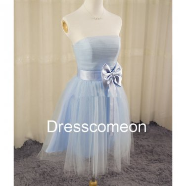 Sweetheart Short Tulle Bridesmaid Dress,Short Homecoming Dress, Short  Graduation Party Dress