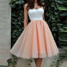 White/Blush Pink Straps Cheap Short Prom Dress Homecoming Dresses Party Gowns