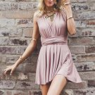 Stretch Satin With Pleats Ball Gown Halter Neckline A-line Homecoming Dresses H03