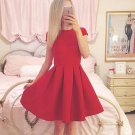 Sexy Short Sleeves Simple Cheap Short Red Homecoming Dresses H07