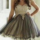 Sexy Strapless Sweetheart Neck Lace Knee Length A-Line Homecoming Dress H14