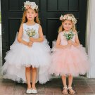Cute Round Neckline Sleeveless A-line Flower Girl Dresses For Wedding Party F01