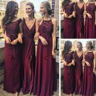 A Line Floor Length Sleeveless Appliques Beading Cheap Bridesmaid Dresses B10