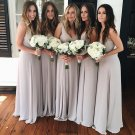 Simple Off Shoulder V Neck Elegant Formal A Line Bridesmaid Dresses B13