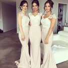 Charming Off Shoulder Floor Length Sweetheart Lace  Bridesmaid Dresses B15