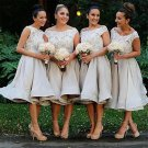 Charming Organza Ball Gown Knee-Length Lace  Bridesmaid Dresses B16