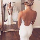 Sexy Sweetheart Neck Lace Appliques Sleeveless Wedding Dress W09