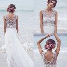 Beautiful V Neck Short Train Sexy Sleeveless Wedding Dress W15