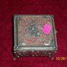 small rose jewelry box