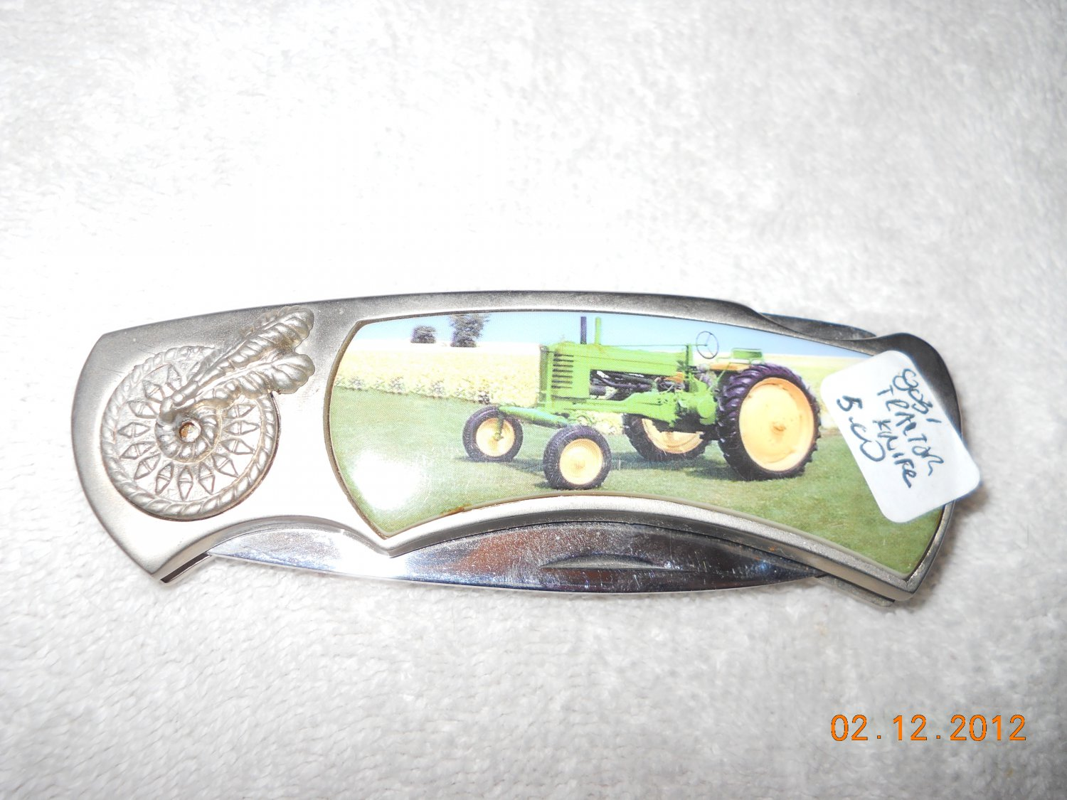 Stainless Steel Collector's Tractor Knife w/ lock blade
