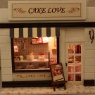 Wooden Dollhouse Miniatures DIY Cake Love Shop kit