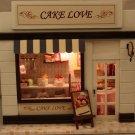 Wooden Dollhouse Miniatures DIY Cake Love Shop kit