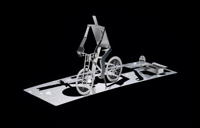 DIY MAN Metal Sculpture Kit Great Gift- Cycling