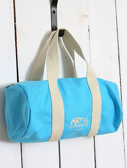 Colorful Art of Canvas hangbag Tote bag - Blue Color
